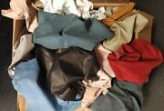 500 Lb Box Italian Leather Scrap Sheepskin 1 Square Foot And Up Pieces
