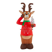 Christmas Outdoor Decor 6 Ft Animated Shivering Reindeer Inflatable W Led Lights