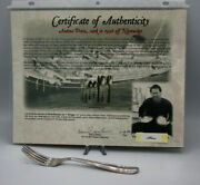 S.s. Andrea Doria Shipwreck Recovery Dinner Fork With Italia Crown Crest And Coa