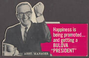 Happiness Is Getting Promoted And A Bulova President Watch Store Sign 1950s