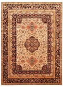 Traditional Hand-knotted Oriental Carpet 9and0393 X 12and0394 Area Rug In Light Khaki