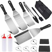 Grill Tool Kit 16 Pcs Griddle Accesories Set Outdoor Bbq Barbecue Tool