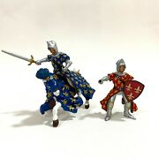 2005 Papo Knights And Horse Bundle Figures Medieval Toys - Aus Seller