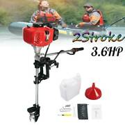 52cc 2 Stroke 3.6hp Outboard Motor Heavy Duty Boat Engine W/air Cooling System