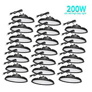 20 Pack 200w Ufo Led High Bay Lights Commercial Warehouse Factory Light Fixture