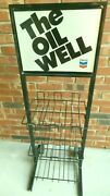 Vintage Original Chevron The Oil Well Motor Oil Can Rack - Very Good Condition