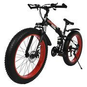 26in 4w Adult Fat Tire Mountain Bike 21 Speed Bicycle High-tensile Aluminum Mtb