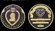 Purple Heart For Military Merit Souvenir Gold Plated Coin