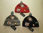 Polo Men Tiger Patch Naval Tailors Black Red Olive Beanie Hat