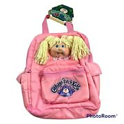 Vintage 1983 Cabbage Patch Kids Pink Doll Face Girls Backpack New