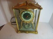 Vintage United Clock Corp Moving Dancers Electric Clock Nice