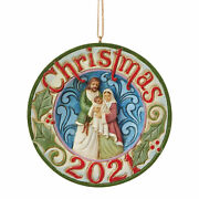 Jim Shore Holy Family Dated 2021 Polyresin Christmas Date 21 Jesus 6009193