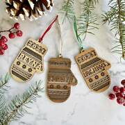 Personalized Family Gloves Wood Ornaments Cutout Christmas Decoration