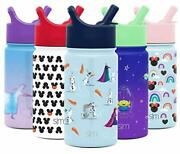 Simple Modern 14oz Disney Summit Kids Water Bottle Thermos With Straw Lid - D...