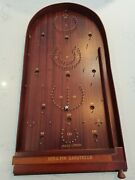 Hit-a-pin Bagatelle Jaques London Table Family Game Wood Handcrafted Classic