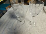 Waterford Hanover Gold Iced Tea Glass And 1 Waterford Araglin Water Goblet