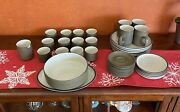 60andrsquos Mid Century Modern Denby Stoneware Full Set Plates Cups Mugs Bowls 40 Pc