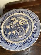 Antique Set Of 74 Pieces Of Blur Willow Blue China Porcelain Dinner Dishes
