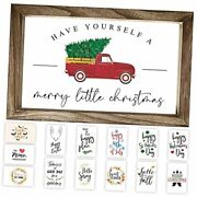 Farmhouse Wall Decor Signs For Christmas And Thanksgiving Decor With