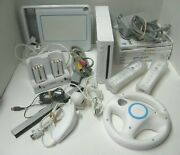 Wii Console Bundle - Console, Games, Controllers, Nunchuck, Charger, Sensor Bar