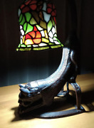 Style Dragonfly Stained Glass Lamp Cat Stained Glass Floor Lamp Used