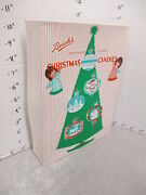 Beich's Chocolate Covered Christmas Candy Box 1960s Tree Ornament Angel 1