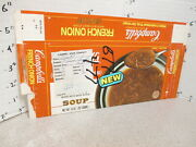 Campbell's 1970s French Onion Soup Vintage Frozen Food Box 1 Tv Dinner