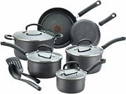 T-fal Ultimate Hard Anodized Nonstick 12 Piece Cookware Set Black