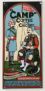 Vintage Camp Coffee With Chicory Enamel Advertising Sign R. Paterson And Sons