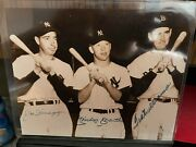 Mickey Mantle, Joe Dimaggio And Ted Williams Autographed 8x10 And Other Photos