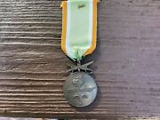 Ww2 German Azad Hind / Free India Corps Service Medal With Swords