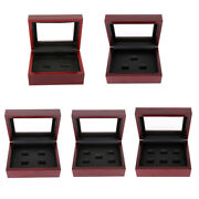 Wooden Display Box Cases World Series Stanley Cup Championship Ring 2/3/4/5/6