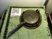 Griswold 8 Cast Iron Waffle Iron W/ Low Bailed Base