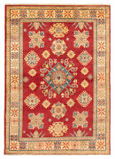 Vintage Geometric Hand-knotted Carpet 4and03911 X 7and0390 Traditional Wool Area Rug