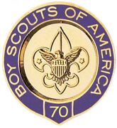 Boy Scouts Of America Bsa Official 70 Year Veteran Pin Oa Jamboree Camp Trading