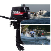 Hangkai 6 Hp 2 Stroke Outboard Motor Boat Engine Water Cooling Cdi System 4400w