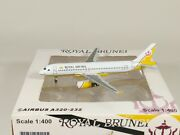 Royal Brunei Airlines Airbus A320 V8-rbs Aircraft Model 1400 Scale Jc Wings