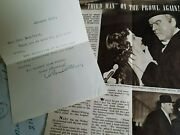 Orson Welles Signed Letter And Envelope - Autograph 1952 And Supporting Info Rare