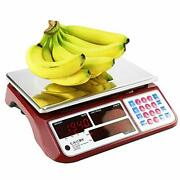 Digital Commercial Price Scale 66lb / 30kg For Food Meat Fruit Produce With