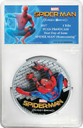 2017 100 Spider-man Homecoming 1 Kilo .999 Silver Proof Coin Pcgs Pr69dcam