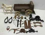 Vintage 1966 American Character Bonanza Wagon Toy Horses And Accessories