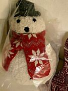 Pottery Barn Archie Snowman. Sold Out Pillow Christmas New W/tags Nwt. In Hand