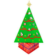 Spinning Wood Magnetic Christmas Tree Reusable Advent Calendar With Ornament