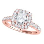 Diamond Engagement Rings For Women 1.0 Cttw Natural Diamond Halo Antique Ring