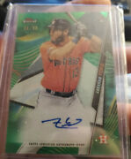 2020 Topps Finest Abraham Toro Rc Auto Green Wave /99 Refractor Astros Rookie🔥