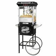 Great Northern Black Antique Style Popcorn Popper Machine W/cart, 8 Ounce