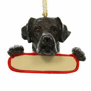 Personalized Ornaments Chocolate Lab Polyresin Christmas Puppy Dog 21822