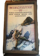 Winchester World Standard Repeating High Powered Rifles And Ammunition Sign