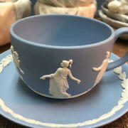 Wedgwood 6 Cups And Saucers Teacup Cup Jasper Pale Blue Tableware Kitchen