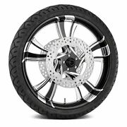 For Harley-davidson Road King 08-19 Cruise Front Wheel Kit W Tires And Rotors